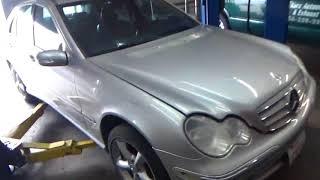 Автосервис в США ; MERCEDES C CLASS, Замена двигателя !!