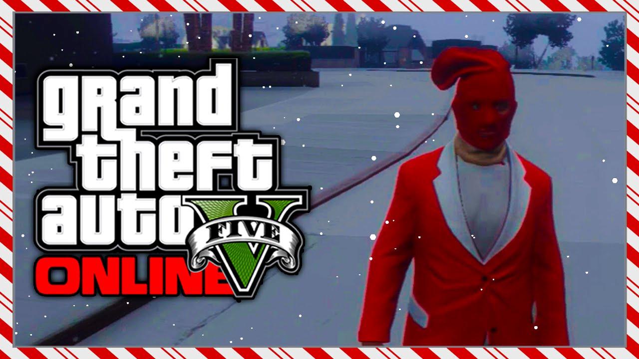 GTA 5 Christmas DLC LEAKED Secret Present - RARE Red Stocking ...