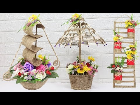 5 Jute craft ideas | Home decorating ideas handmade | #6