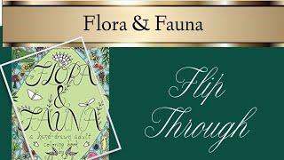 Flora & Fauna Colouring Book Flip Through