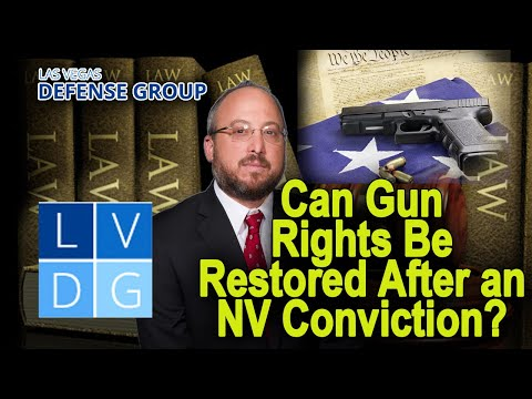 Will I get arrested for possessing a firearm/ gun in Nevada? (NRS 202.360)