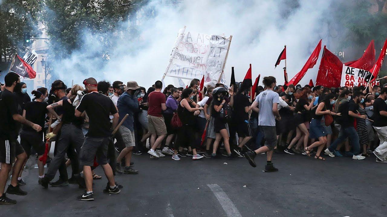Manifestaciones contra el proyecto de ley antiprotestas en Grecia