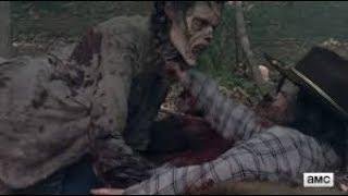 The Scene where Carl got bit The walking dead season 8 episode 6