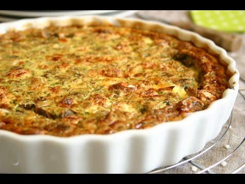 recette-de-quiche-sans-pâte-champignons-&-pétoncles