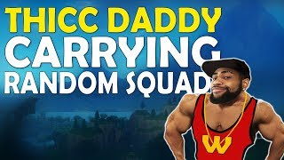 THICC DADDY DAEQUAN | RANDOM SQUADS CARRY IN BLITZ | HIGH KILL FUNNY GAME - (Fortnite Battle Royale)