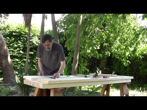 How to build a workbench - (Part 8) Preparing the aprons - | Paul Sellers