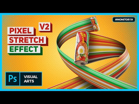 CIRCLE STRETCH EFFECT PHOTOSHOP TUTORIAL (2) #MONITOR19 thumbnail