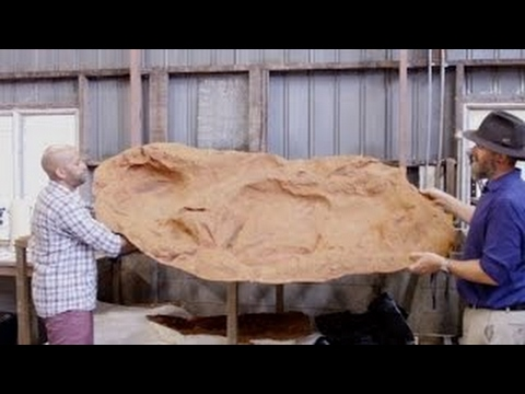 The Largest Dinosaur Footprint EVER Found In Australia's 'Ju