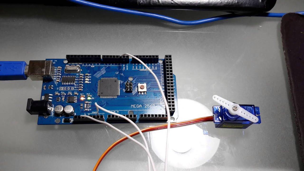 Arduino mega y servo sg youtube
