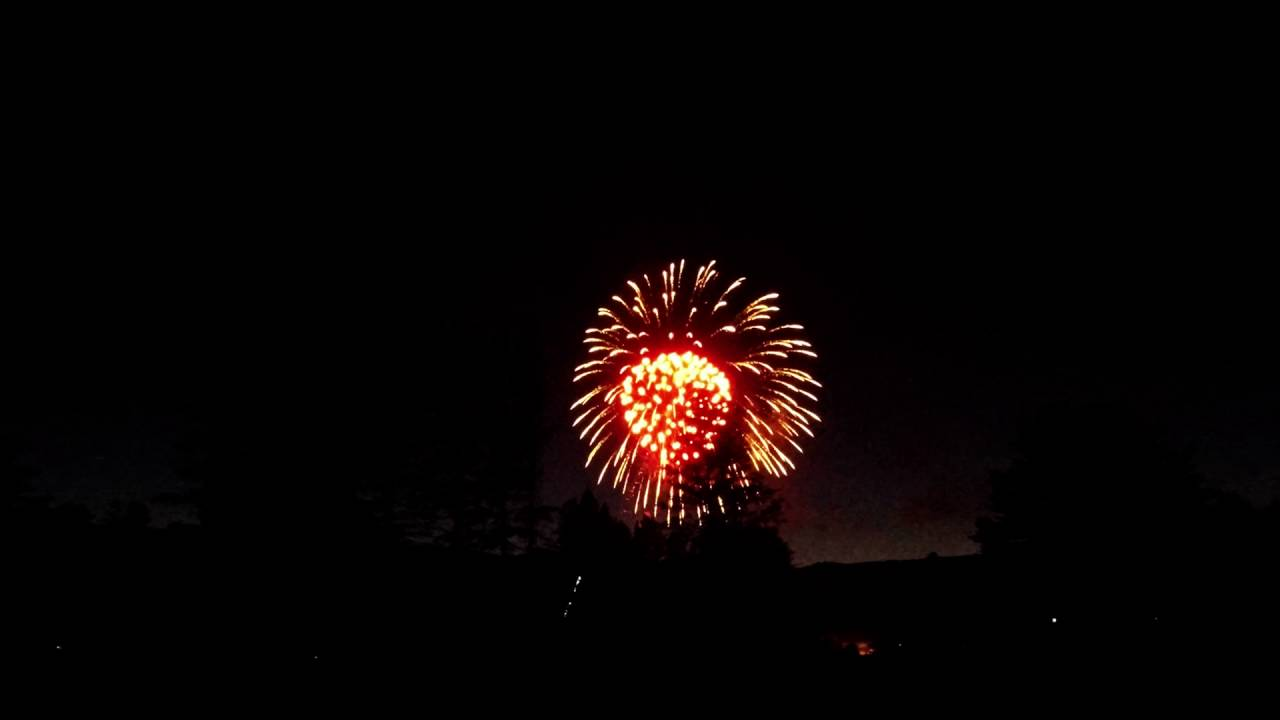 fourth of july fireworks at lake morey fairlee vermont youtube