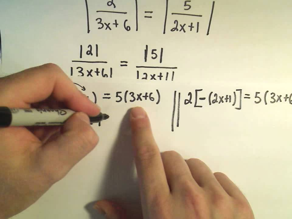 Solving Absolute Value Equations Containing Two Absolute Value