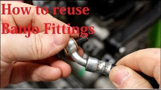 How to properly reuse banjo fittings