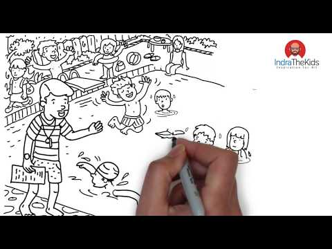 How to Drawing Swimming Pool crowd-kids