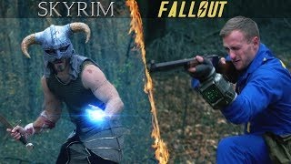 FALLOUT VS. SKYRIM! Who would win?!