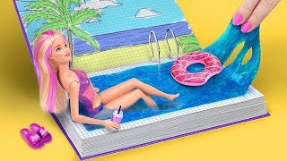 12-clever-barbie-hacks-and-crafts-winter-barbie-vacation-vs-summer-barbie-vacation-challenge