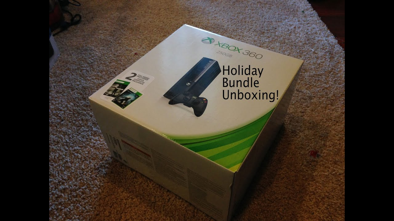 Unboxing of the Xbox 360 E 250GB Holiday Bundle | Doovi