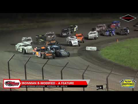 IronMan B-Modified Features - Park Jefferson Speedway - 8/25/18