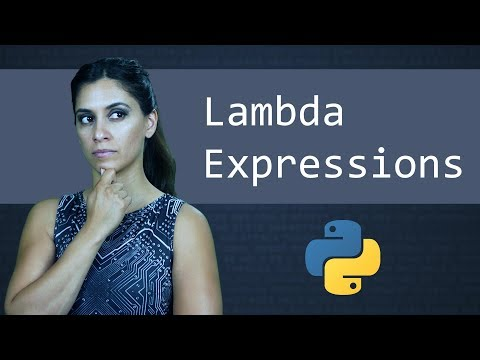 Lambda Expressions & Anonymous Functions ||  Python Tutorial  ||  Learn Python Programming