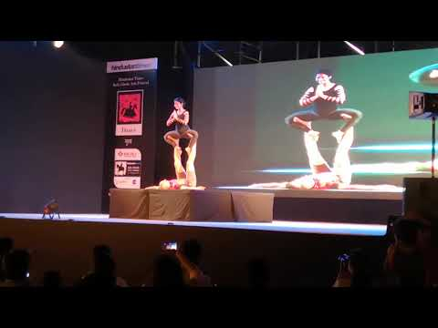 Acroyoga performance @ Kala Ghoda Arts Festival 2018