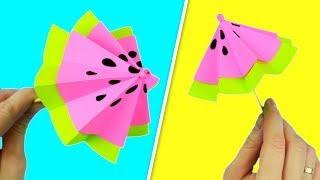 Зонтик из бумаги для украшения коктейлей и сладостей