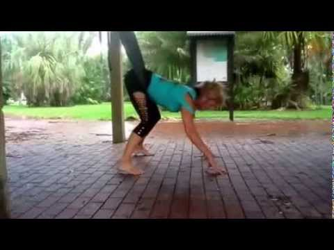 Fly Gym Aerial Fitness Warmup, Hip Belt Hold