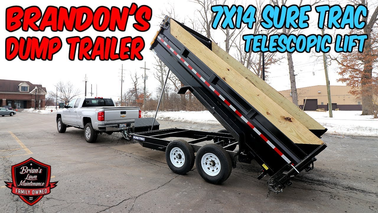 The Flag Ship Dump Trailer 7x14 Telescopic Sure Trac Dump Trailer Full Walk Around Youtube