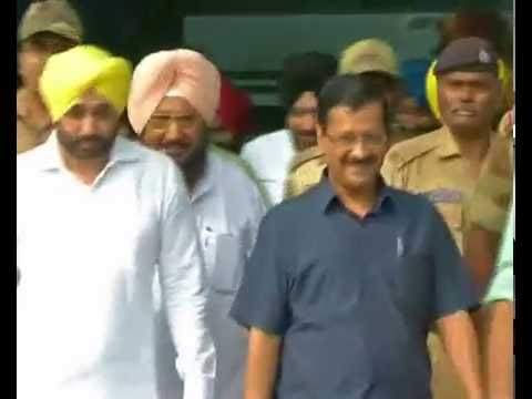 Arvind Kejriwal Making Distance With Media at the Airport of Amritsar