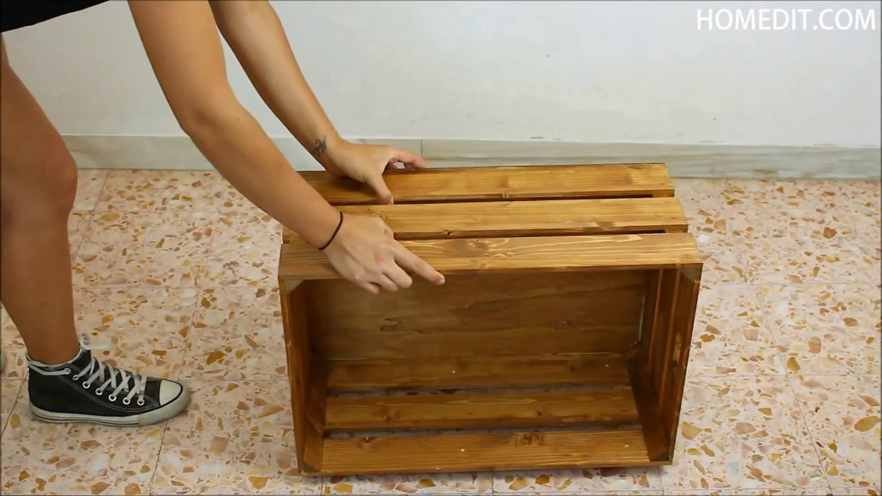 Crate Coffee Table On Wheels Diy