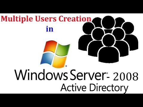 Server 2008 R2 - How To Create Multiple User Names Quickly In Windows Server 2008R2 Active Directory