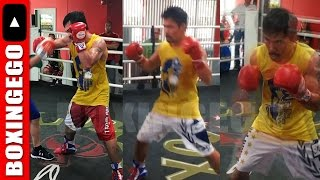 MANNY PACQUIAO TRAINING 2 DESTROY JEFF HORN!
