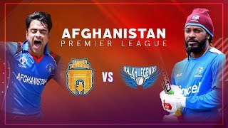 APL 2018 M3: Balkh Legends vs Kabul Zwanan Live Stream, Afghanistan Premier League - APLT20