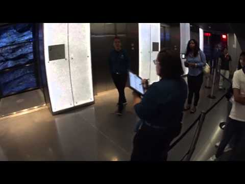 One World trade center Observatory - Main entrance and elevator experice