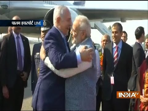 Israel PM Benjamin Netanyahu arrives in Delhi, received by PM Modi