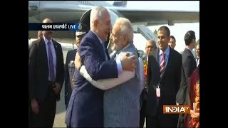 From youtube.com: Israel PM Benjamin Netanyahu arrives in Delhi, received by PM Modi {MID-233298}