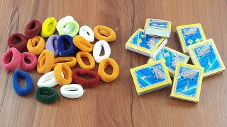 Amazing creative idea Out of Waste Matchbox & Hair rubber band | DIY decorating idea