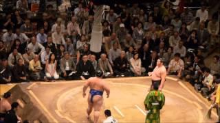 平成26年大相撲五月場所6日目の遠藤対琴奨菊。 Grand Sumo Tournament 2...