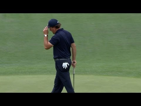 Phil Mickelson gets up and down from bunker to save par at Shell