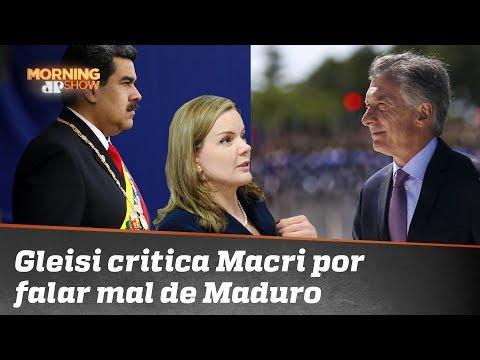 Bolsonaro encontra Macri, e Gleisi Hoffmann não perde a oportunidade de alfinetar
