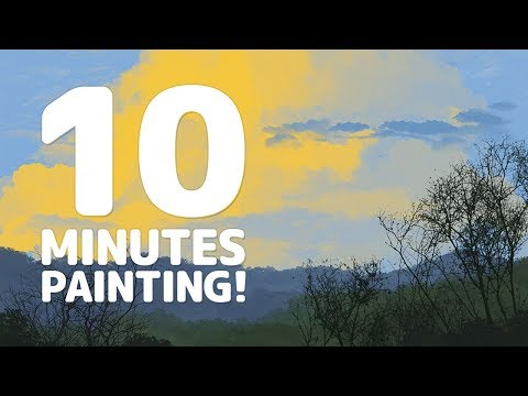 Photoshop 10 Minutes Speed Paint Landscape Art