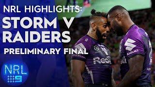 NRL Highlights: Storm v Raiders - Preliminary Finals | NRL on Nine