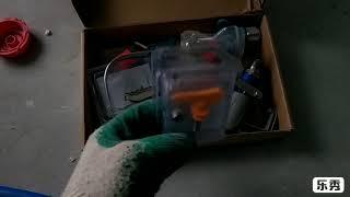 DINO-POWER X43 шпаклевочный аппарат. Краткий обзор и небольшой процесс аппарат в работе