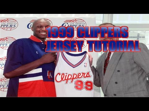 1999-00 Los Angeles Clippers jersey and court tutorial