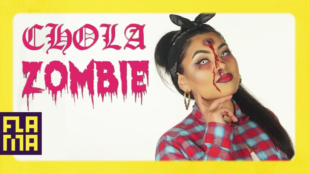 Chola Zombie Halloween Makeup Tutorial