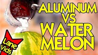 What Happens If You Pour Molten Aluminum On A Watermelon? - MOLTEN ALUMINUM VS WATERMELON