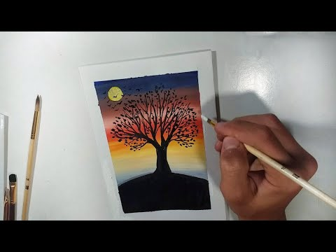 Window Boxes Watercolour Painting Time Lapse World