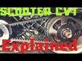 Scooter CVT transmission explained