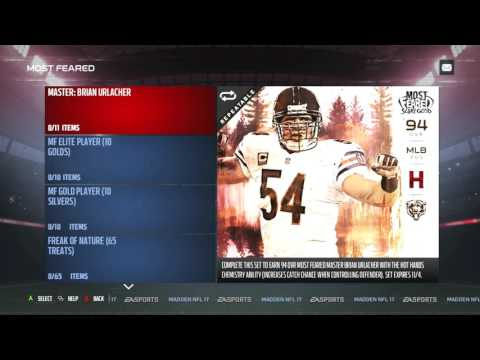 Madden 17 Ultimate Team :: Most Feared Content! MF Master 94 Brian Urlacher!-Madden 17 Ultimate Team