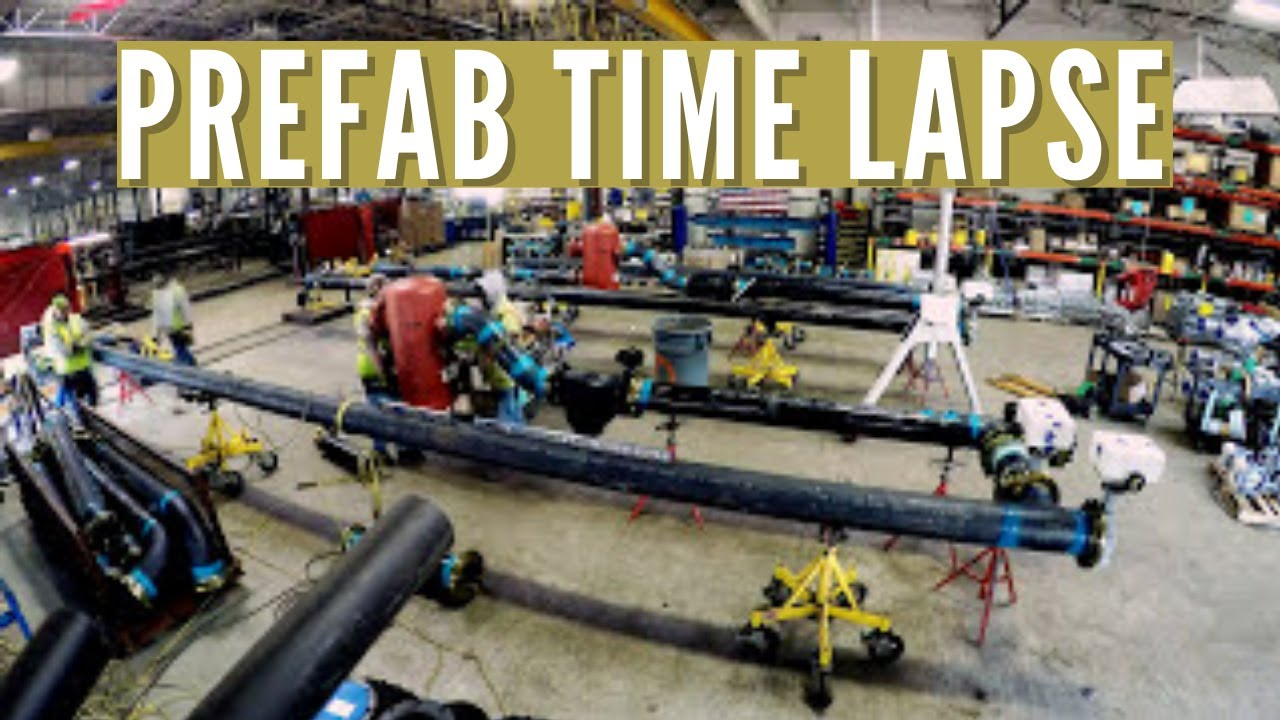 Prefab Air Cooled Chiller Piping Assemblies Time Lapse