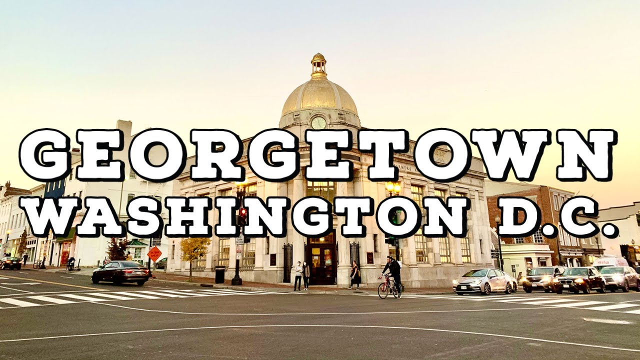 ⁴ᴷ⁶⁰ Georgetown, Washington DC | Walking Charming Neighborhoods