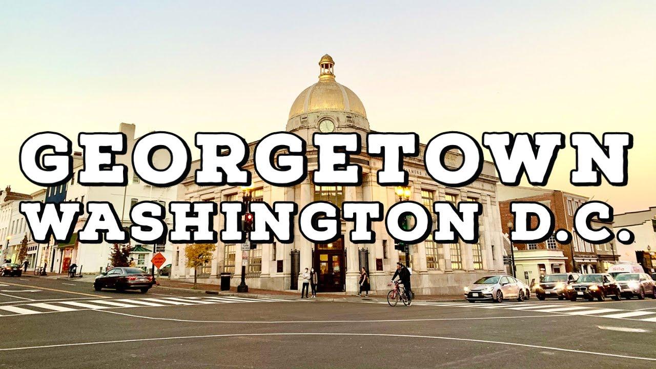 ⁴ᴷ⁶⁰ Georgetown, Washington DC | Walking Charming Neighborhoods